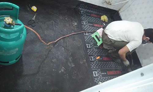 xử lý chống thấm nhà vệ sinh dùng màng khò nóng