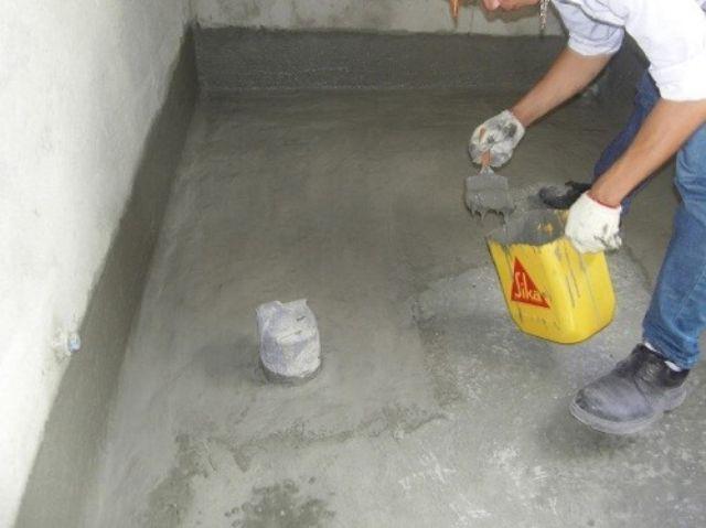 chống thấm nhà vệ sinh bằng SikaTop Seal 107